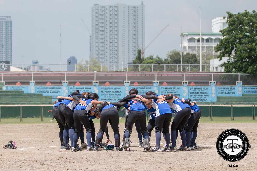 Tiebreaker Times Lady Eagles end 23 game losing streak ADMU News Softball UAAP UE  UE Softball UAAP Season 78 Softball UAAP Season 78 Jonavie Jerazano Gab Macatulad Edcel Bacarisas Cheska Imperial Bea Parma Ateneo Softball Angela Natividad Aids Bernardo