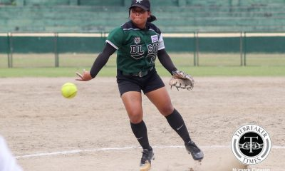 Tiebreaker Times Badeth Benson clutch triple tows DLSU Lady Batters past UE to seal playoff berth DLSU News Softball UAAP UE  UE Softball UAAP Season 81 Softball UAAP Season 81 Lovely Redaja Jasper Cabrera Jamica Arribas Edzel Bacarisas DLSU Softball Chinny Ejar Badeth Benson
