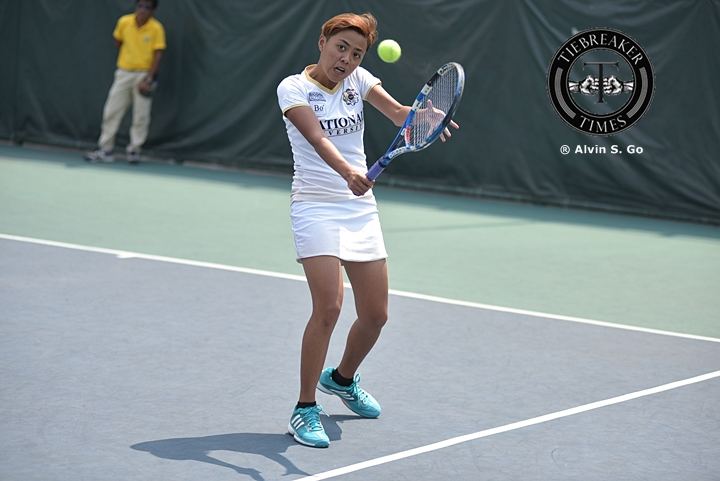 Tiebreaker Times NU still holds top spot as they crush UST News NU Tennis UAAP UST  Zaza Paulino UST Tiger Tennisters UAAP Season 78 Tennis UAAP Season 78 Shy Gitalan Precian Rivera NU Women's Tennis Lenelyn Milo Kendies Malinis Jzash Canja Junnelyn Polito Jennyrose Rosales Hanna Espinosa Goldie Nagaret Genevieve Caorte Erika Manduriao Clarice Patrimonio Christine Patrimonio