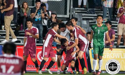 Tiebreaker Times Fighting Maroons strike late to scrape victory against courageous Soaring Falcons AdU Football News UAAP UP  UP Men's Football Team UAAP Season 78 Football UAAP Season 78 Sean Patagan Rvin Resuma Miggy Clarino Kyle Magdato JB Borlongan Daniel Saavedra Daniel Gadia Carl Viray Bless Brian Jumo II Bless Brian Jumo I Anto Gonzales Adamson Men's Football Team Ace Villanueva