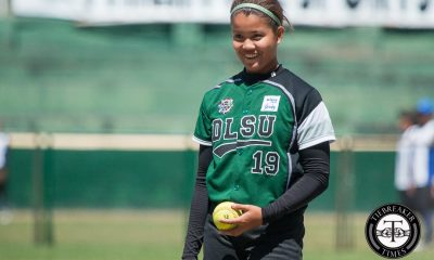 Tiebreaker Times Jamica Arribas saves La Salle Lady Batters from NU's wrath for solo second DLSU News NU Softball UAAP  UAAP Season 81 Softball UAAP Season 81 Sid Abello Rhea Rosales NU Softball Nica Velasco Mary Joy Ramos Jasper Cabrera Jamica Arribas DLSU Softball