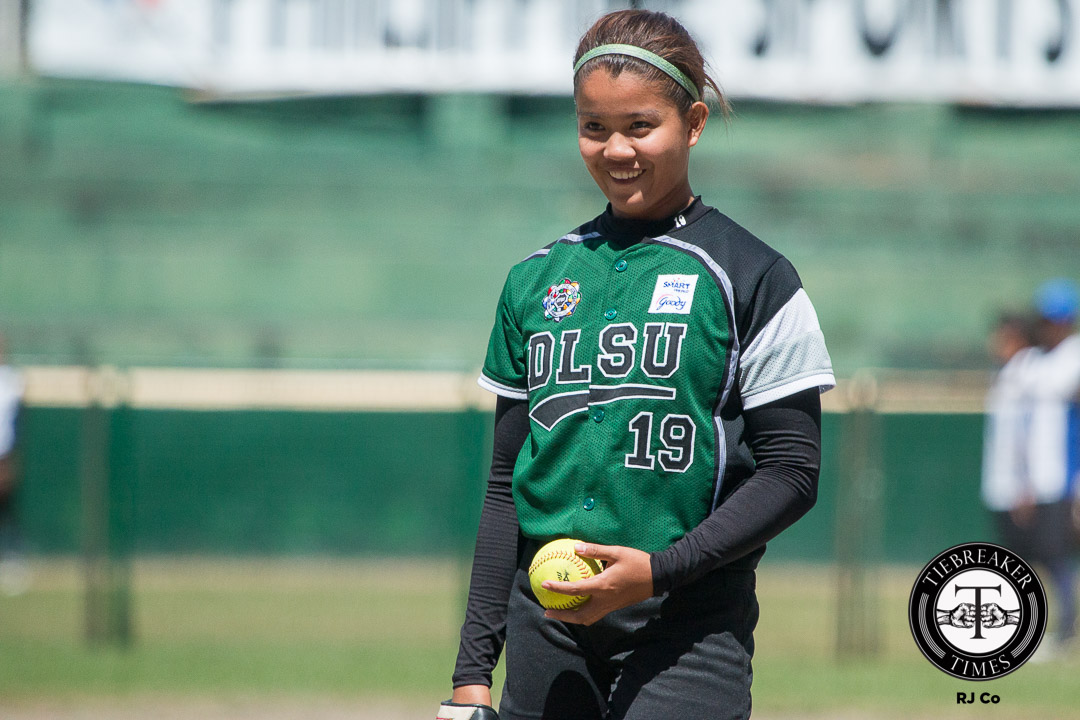 Tiebreaker Times Lady Batters finally connect, send Lady Bulldogs to 2-game skid DLSU News NU Softball UAAP  Veronica Velasco UAAP Season 78 Softball UAAP Season 78 Pat Belarmino NU Softball Mia Macapagal Mary Joy Son Jamica Arribas Egay delos Reyes Dyan Arago DLSU Lady Batters Charles Tulalian Alex Estipular