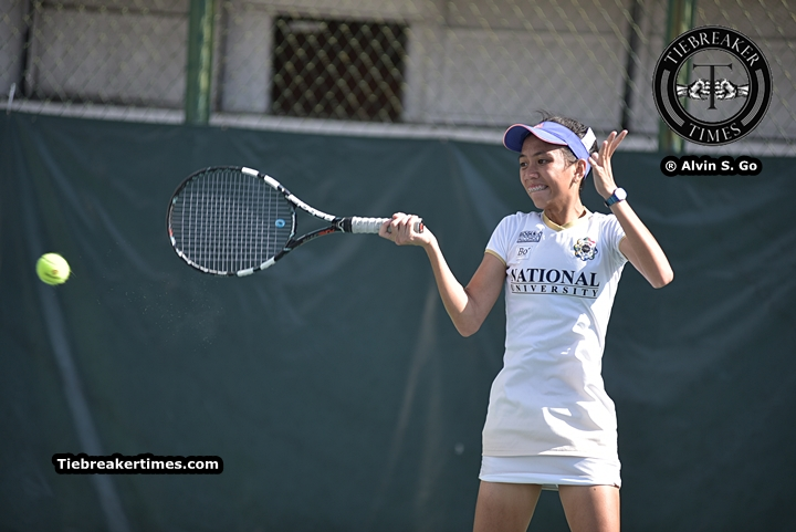 Tiebreaker Times Lady Bulldogs assert mastery of La Salle, stay unbeaten DLSU News NU Tennis UAAP  Zaza Paulino UAAP Season 78 Tennis UAAP Season 78 NU Lady Tennisters Khyshana Hitosis Jzash Canja Junnalyn Polito Jed Aquino Hannah Espinosa Goldie Nagret DLSU Lady Tennisters Clarice Patrimonio Christine Patrimonio