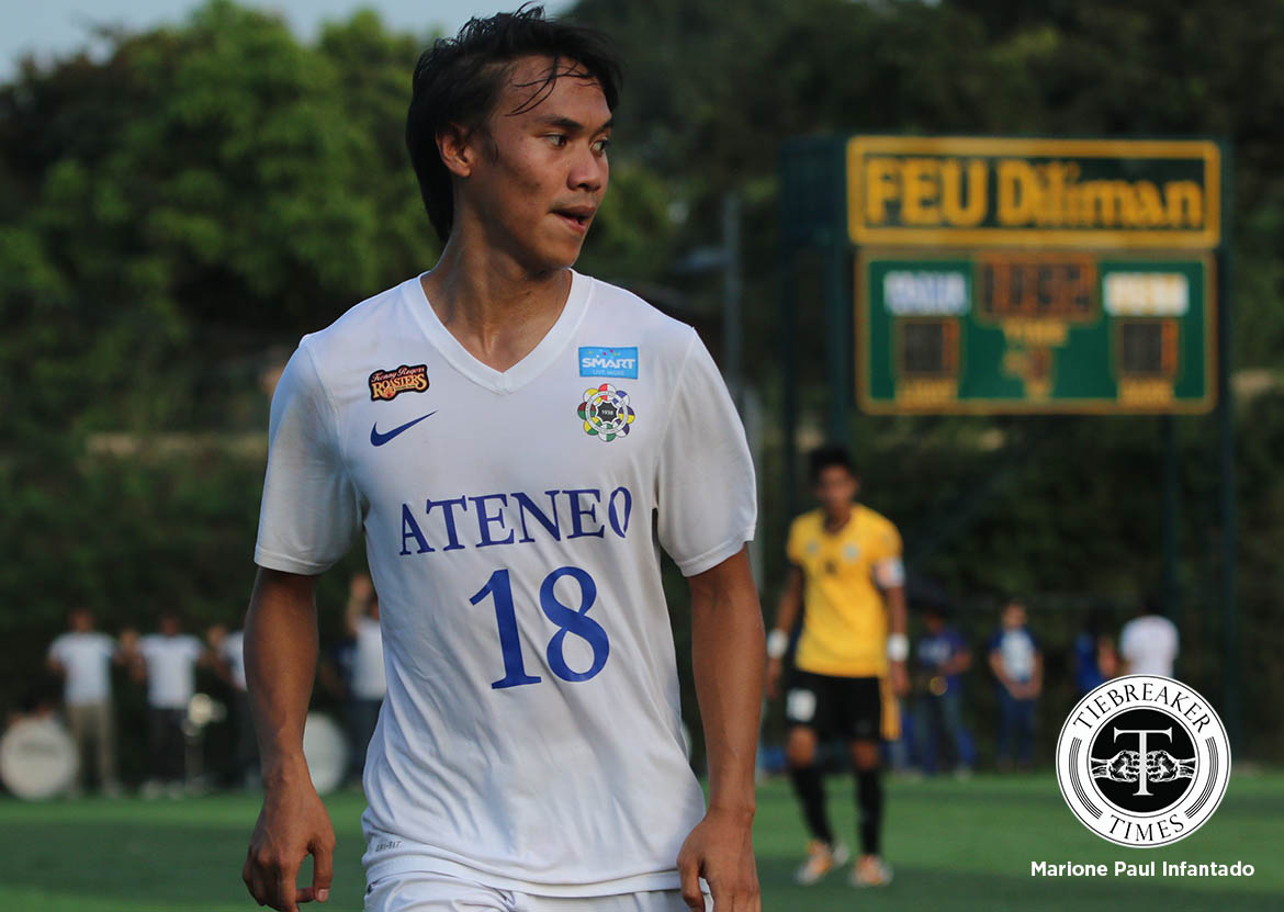 Philippine Sports News - Tiebreaker Times Liay emphasizes teamwork after Ateneo win ADMU Football News UAAP  Carlo Liay Ateneo Men's Football Team Ateneo Blue Eagles