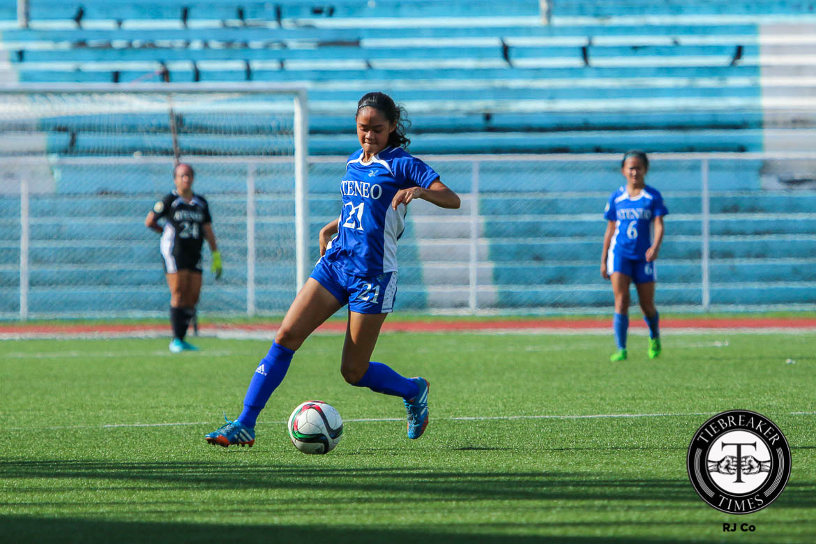 Tiebreaker Times More to come from Bautista, Lady Eagles after encouraging display ADMU Football News UAAP  UAAP Season 78 Women's Football Tournament UAAP Season 78 Martie Bautista
