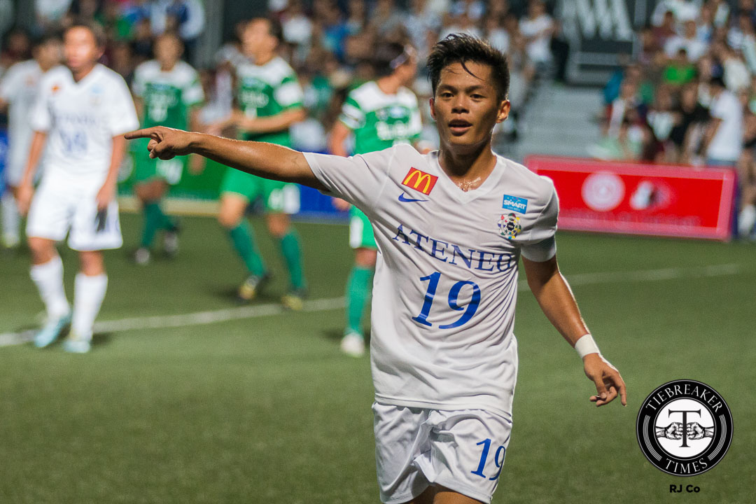 Tiebreaker Times Fight and Focus integral to erase Blue Eagles' early season woes ADMU Football News UAAP  UAAP Season 78 Football Tournament UAAP Season 78 Mikko Mabanag Ateneo Men's Football Team Ateneo Blue Eagles