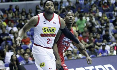 Tiebreaker Times WATCH: Cone, Devance proud of Denzel Bowles' growth Basketball News PBA  Tim Cone Star Hotshots PBA Season 41 Manila Clasico Joe Devance Denzel Bowles Barangay Ginebra San Miguel 2016 PBA Commissioners Cup