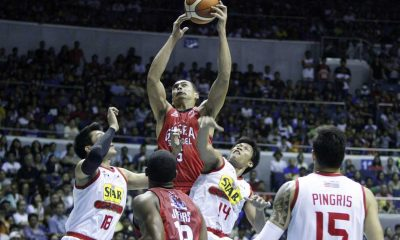 Tiebreaker Times WATCH: Aguilar says being main import defender a 'learning process' Basketball News PBA  PBA Season 41 Manila Clasico Japeth Aguilar Barangay Ginebra San Miguel 2016 PBA Commissioners Cup