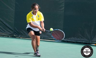 Tiebreaker Times UST close out elims with rousing win over La Salle DLSU Tennis UAAP UST  UST Women's Tennis UAAP Season 78 Tennis UAAP Season 78 Shy Gitalan Precian Rivera Nikki Arandia Marinel Rudas Macy Gonzales Lenelyn Milo La Salle Women's Tennis Khyshana Hitosis Kendies Malinis Jenni Dizon Jed Aquino Ingrid Gonzales Anne Castillo Ana Atagan