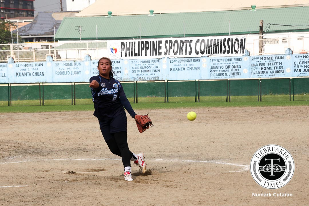 Tiebreaker Times Adamson does not allow Ateneo to reach base for 69th win ADMU AdU News Softball UAAP  UAAP Season 78 Softball UAAP Season 78 Rifayca Basa Queeny Sabobo Nikki Borromeo Gelyn Lamata Dimpo Benjamen Ateneo Softball Adamson Softball