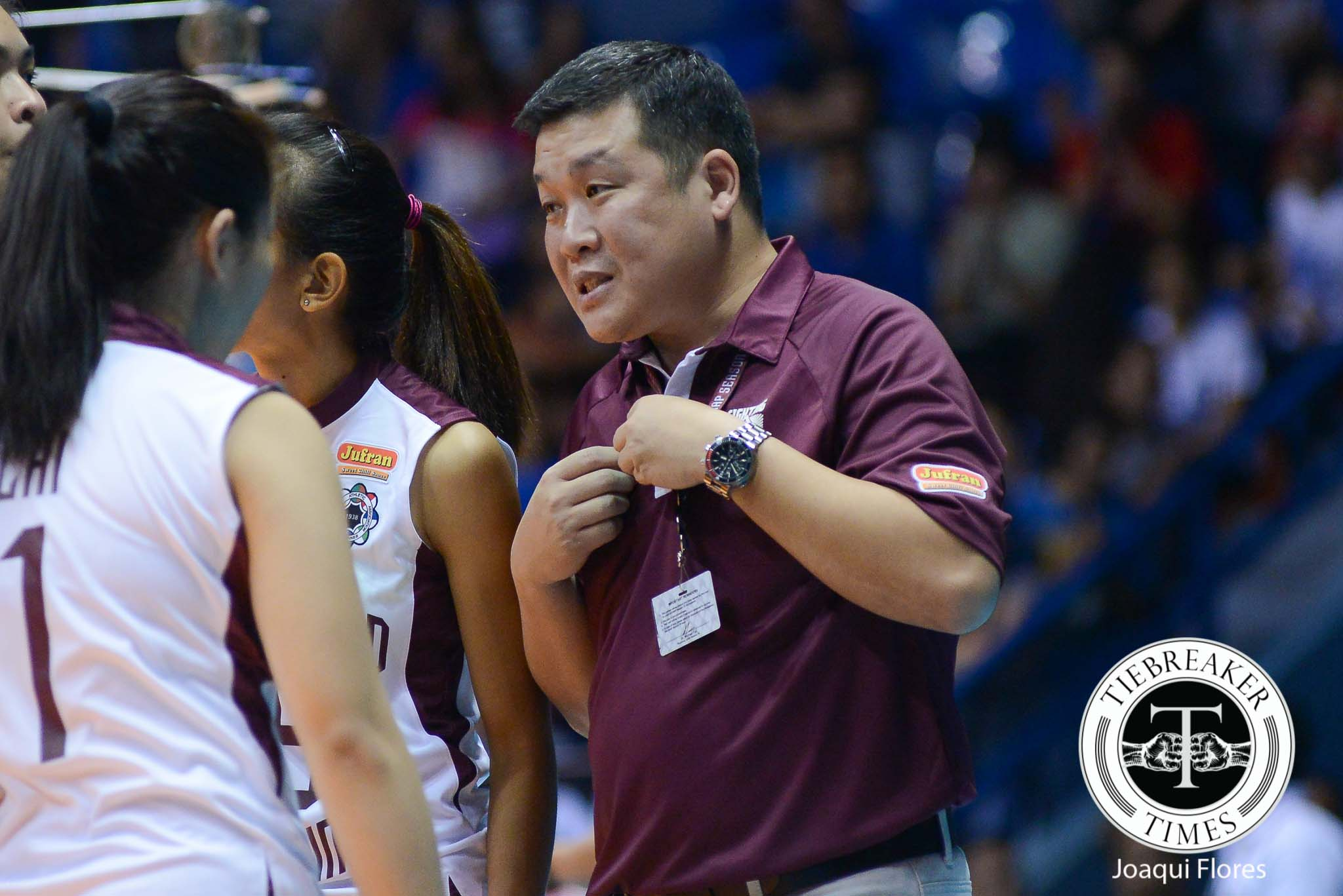 Philippine Sports News - Tiebreaker Times Yee lauds UP's fight, rues finish against Ateneo News UAAP UP Volleyball  UP Lady Maroons UAAP Season 78 Women's Volleyball UAAP Season 78 Jerry Yee