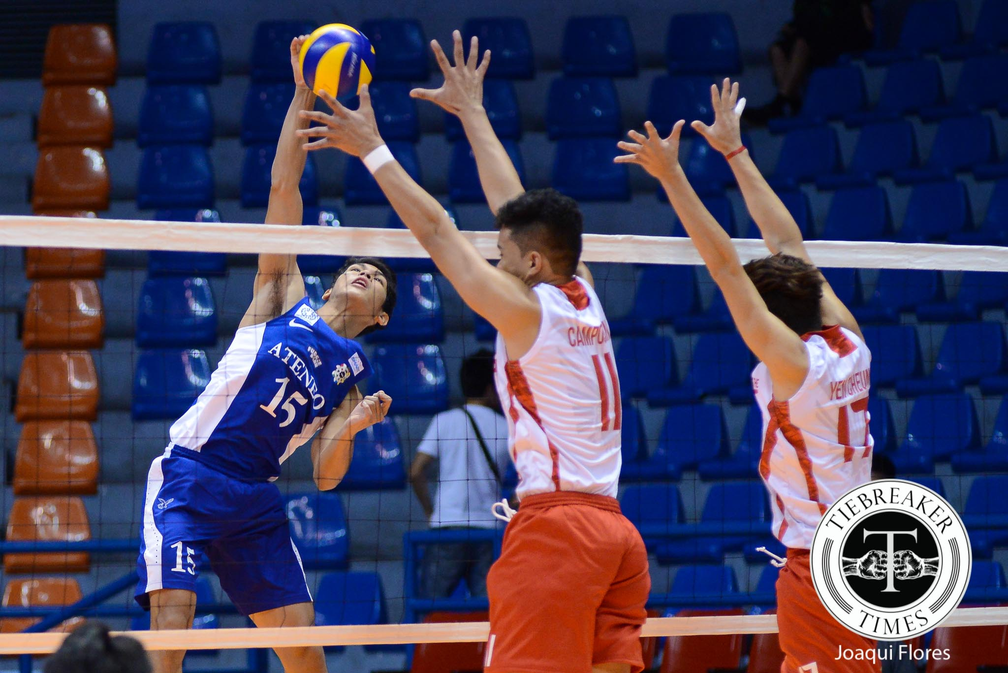Tiebreaker Times Eagles rout struggling Warriors for fifth win ADMU News UAAP UE Volleyball  UE Men's Volleyball Team UAAP Season 78 Men's Volleyball Ruvince Abrot Ruel Pascual Ron Medalla Rex Intal Oliver Almadro Noel Alba Marck Espejo Edward Camposano Ateneo Men's Volleyball Team