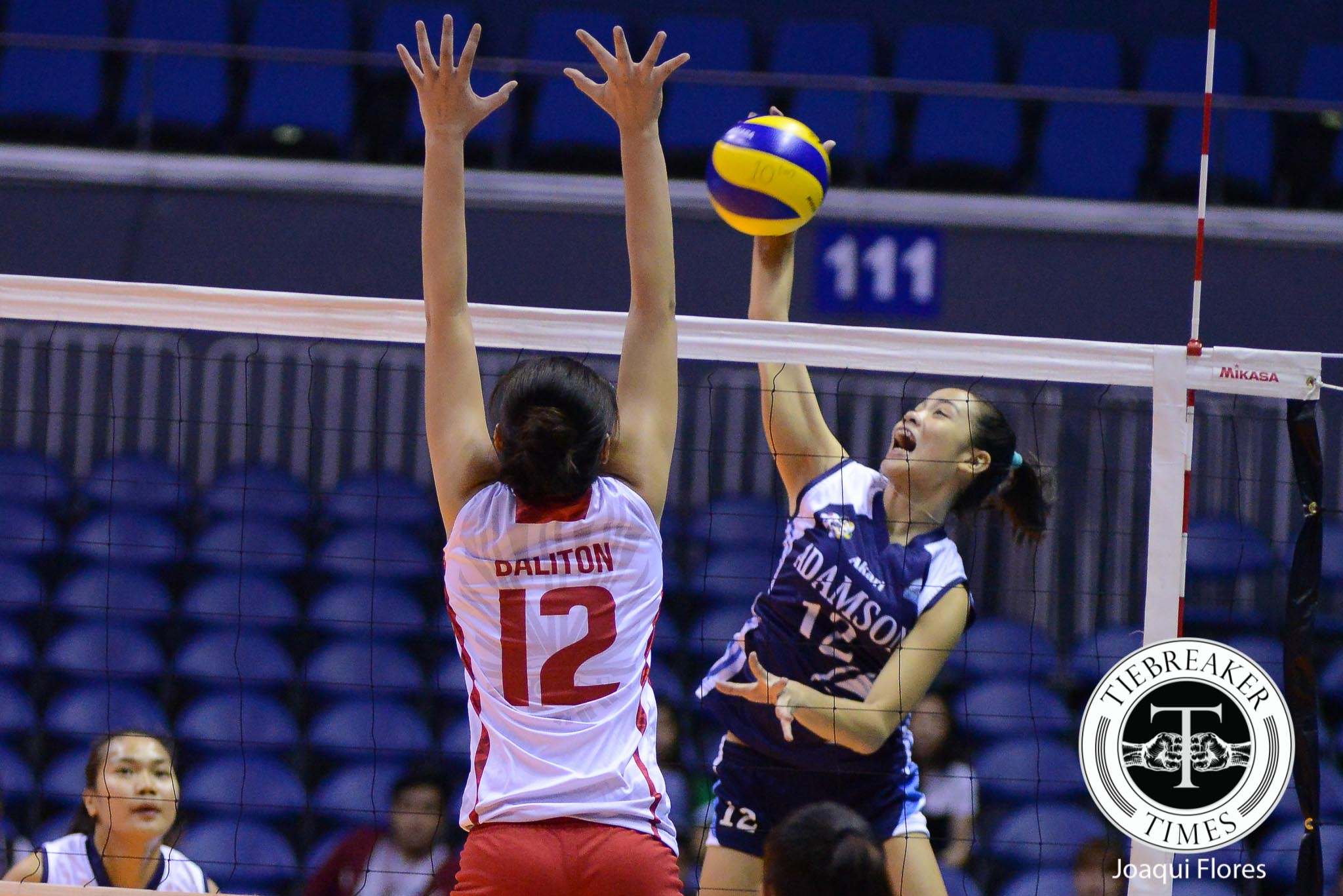 Tiebreaker Times Adamson clinches third win, UE drops 52-straight AdU News UAAP UE Volleyball  UE Women's Volleyball UAAP Season 78 Women's Volleyball UAAP Season 78 Sherwin Meneses Shaya Adorador Mylene Paat May Roque Judith Abil Jema Galanza Francis Vicente Anne Mendrez AdU Women's Volleyball