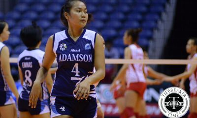Tiebreaker Times Emotional Mylene Paat laments Meneses' resignation AdU News UAAP Volleyball  UAAP Season 78 Women's Volleyball UAAP Season 78 Mylene Paat AdU Women's Volleyball