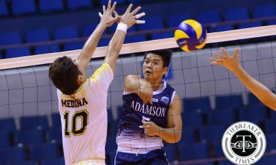 Tiebreaker Times Fiery Falcons roll to six straight, keep Tigers slumping AdU News UAAP UST Volleyball  UST Men's Volleyball UAAP Season 78 Men's Volleyball UAAP Season 78 Tyrone Carodan Odjie Mamon Mike Sudaria MAnuel Medina Jason Sarabia Domeng custodio Dave PLetado Bryan Saraza AdU Men's Volleyball
