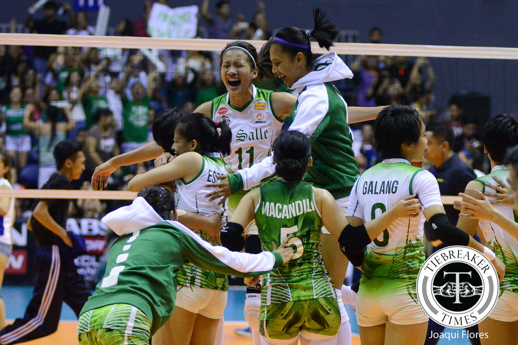 Philippine Sports News - Tiebreaker Times Agony avenged as Lady Spikers dominate Lady Eagles ADMU DLSU News UAAP Volleyball  UAAP Season 78 Women's Volleyball UAAP Season 78 Mika Reyes Kim Fajardo Jia Morado Jho Maraguinot DLSU Women's Volleyball Ateneo Women's Volleyball Ara Galang Alyssa Valdez