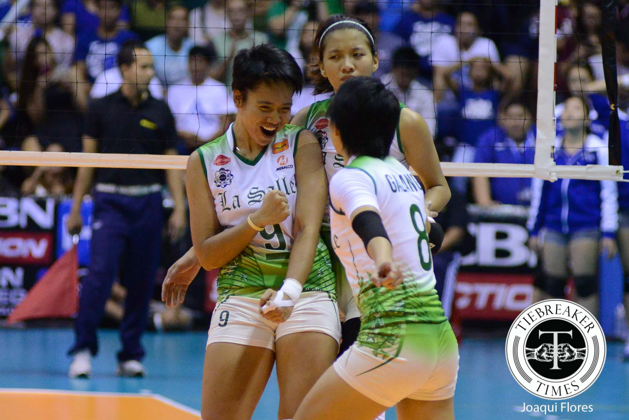 Tiebreaker Times Fajardo takes control in La Salle's most crucial match DLSU News UAAP Volleyball  UAAP Season 78 Women's Volleyball UAAP Season 78 Kim Fajardo DLSU Women's Volleyball
