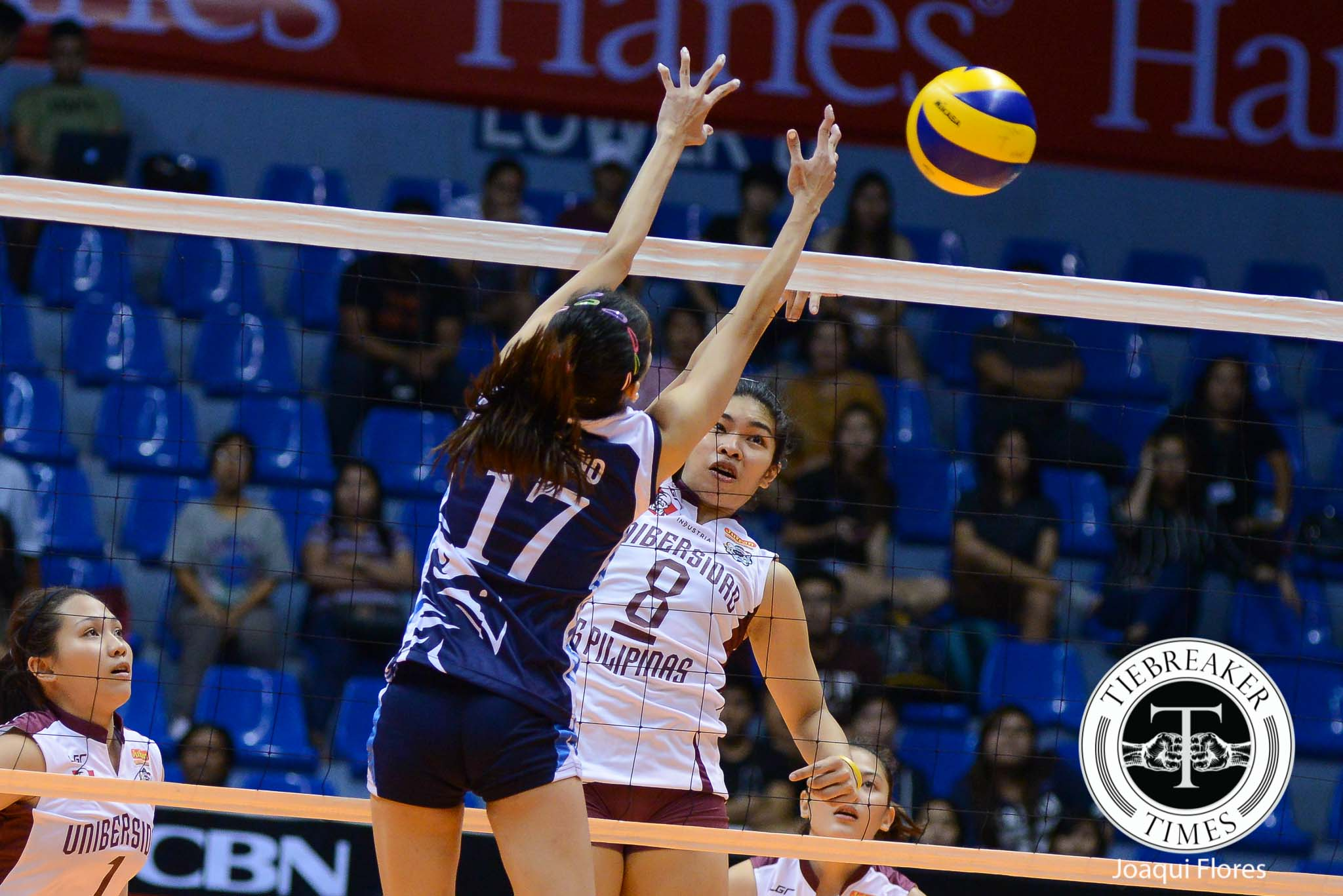 Tiebreaker Times Lady Maroons snap skid at free-falling Lady Falcons' expense AdU News UAAP UP Volleyball  UP Lady Maroons UAAP Season 78 Volleyball UAAP Season 78 Nicole Tiamzon Mylene Paat May Roque Marian Buitre Kathy Bersola Justine Dorog Jerry Yee Jema Galanza Isa Molde Adamson Lady Falcons