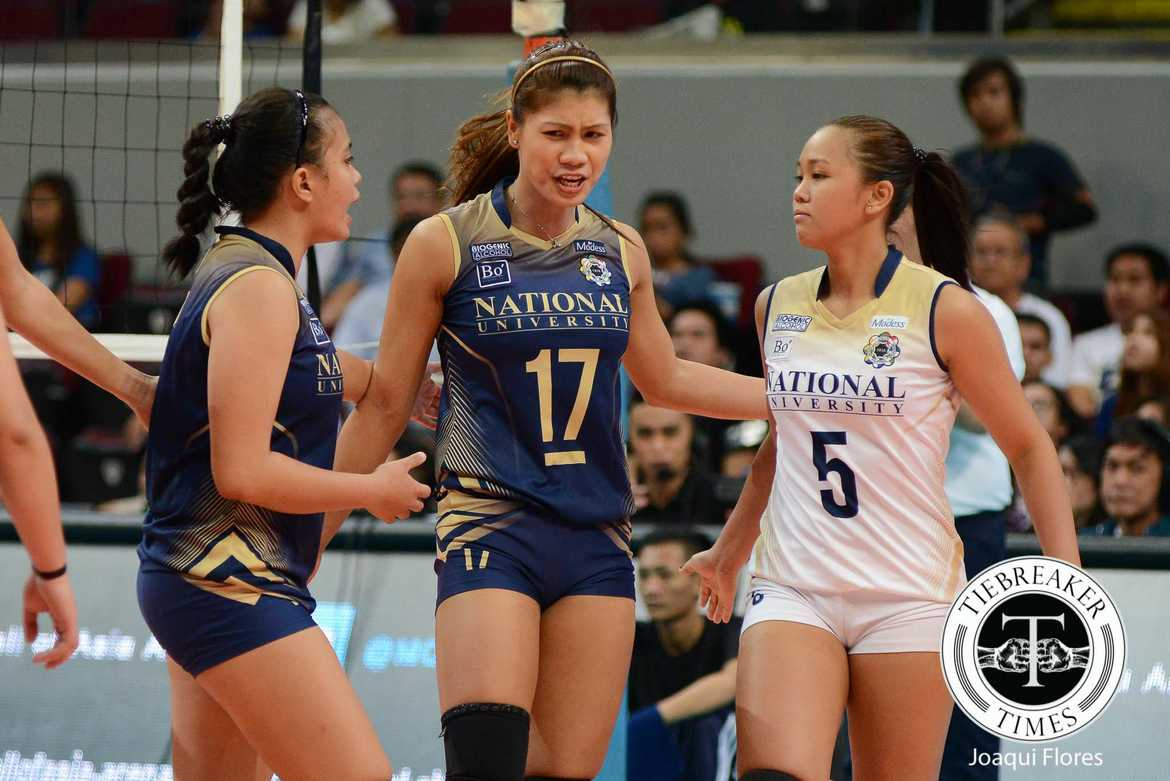 Philippine Sports News - Tiebreaker Times As coaches walk out, Lady Bulldogs left to simmer on another disappointing loss News NU UAAP Volleyball  UAAP Season 78 Women's Volleyball UAAP Season 78 Roger Gorayeb NU Women's Volleyball Myla Pablo Jaja Santiago