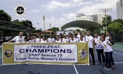 Tiebreaker Times Three-peat: National U edges out UST, grabs women's tennis crown News NU Tennis UAAP UST  Zaza Paulino UST Female Tennisters UAAP Season 78 Women's Tennis UAAP Season 78 Shymae Gitalan Precian Rivera NU Women's Tennis Macy Gonzales Lenelyn Milo Karl Santamaria Goldie Nagret Clarice Patrimonio Christine Patrimonio
