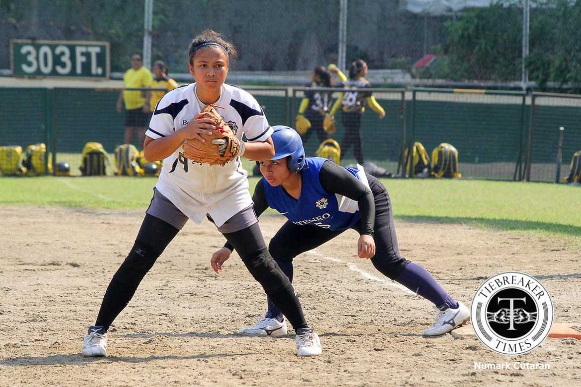 Tiebreaker Times National U breaks funk, crushes Ateneo ADMU News NU Softball UAAP  Shaira Damasing Rina Vailoces NU Softball Nikki Borromeo Mary Grace Blanco Baby Gequillo Ateneo Softball Angela Natividad