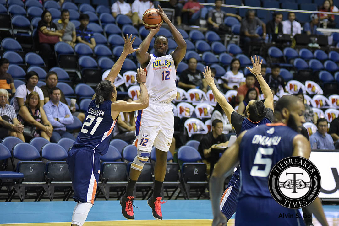 Tiebreaker Times Thornton heroics powers NLEX, sends Meralco to second straight loss Basketball News PBA  PBA Season 41 Norman Black NLEX Road Warriors Meralco Bolts Kevin Alas Jared Dillinger Garvo Lanete Boyet Fernandez Baser Amer Arinze Onuaku Al Thornton 2016 PBA Commissioners Cup