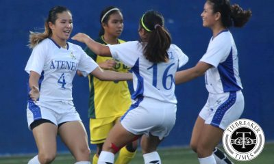 Tiebreaker Times Lady Eagles stand firm to earn vital victory against resurgent Lady Tamaraws ADMU FEU Football News UAAP  UAAP Season 78 Women's Football UAAP Season 78 Sharmine Siaotong Martie Bautista Marriane Caparros Kimberly Parina Jovelle Sudaria Fiona Faulkner FEU Women's Football Team Cam Rodriguez Bob Manlulo Barbie Sobredo Alesa Dolino Aina Martin ADMU Women's Football Team
