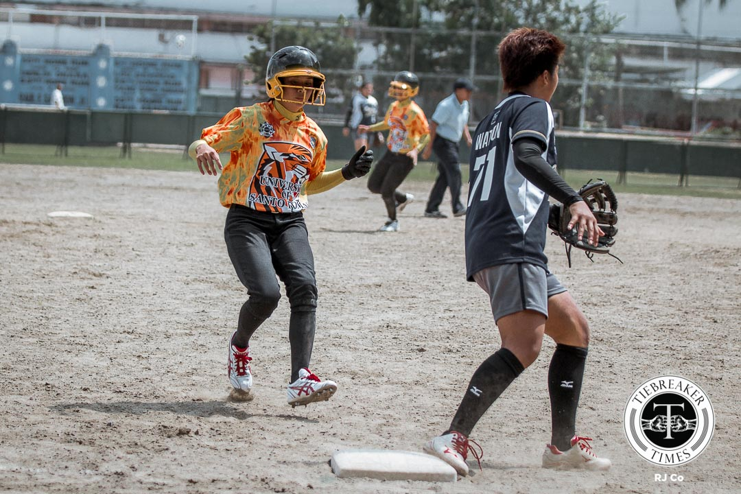 Philippine Sports News - Tiebreaker Times UST takes 2x-to-beat advantage in shutout of NU News NU Softball UAAP UST  UAAP Season 78 Softball Final Four UAAP Season 78 Softball UAAP Season 78 Sandy Barredo Mary Ann Ramos Kristine Acuna Hannah dela Torre Edgar delos Reyes Celestine Palma Ann Antolihao Aimee Watson