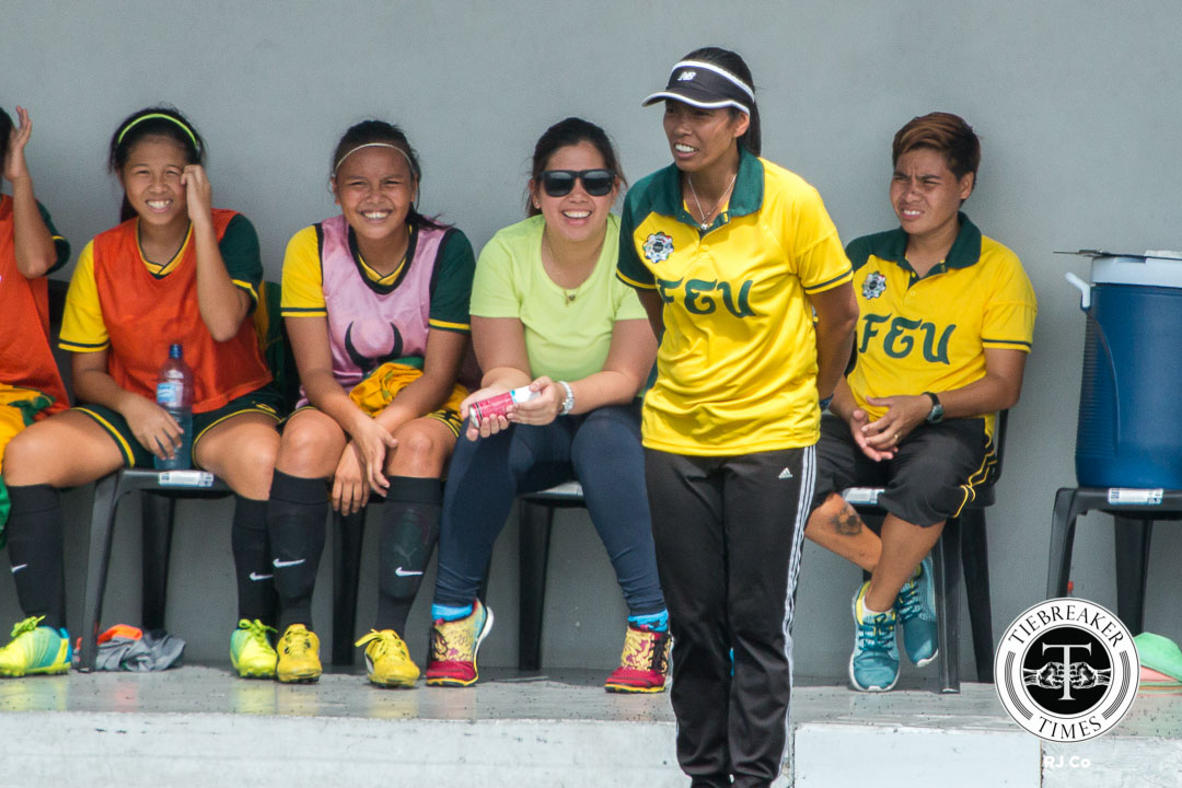 Philippine Sports News - Tiebreaker Times Dimzon exercises patience as Lady Tamaraws aim to solve early season woes FEU News UAAP  UAAP Season 78 Women's Football Tournament Let Dimzon FEU Women's Football Team