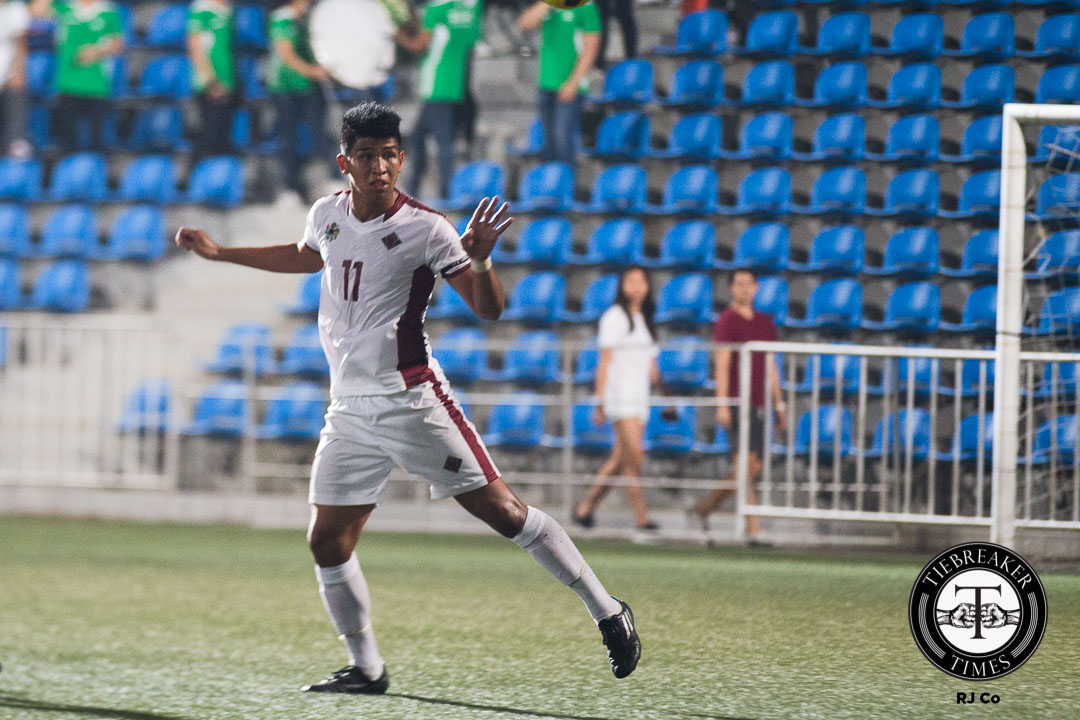 Philippine Sports News - Tiebreaker Times Goalscoring woes evident for UP defender Clarino Football News UAAP UP  UP Men's Football Team UAAP Season 78 Men's Football UAAP Season 78 Ian Clarino