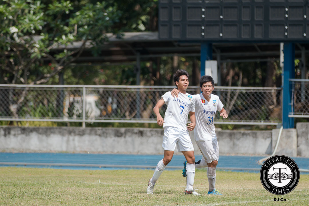 Tiebreaker Times Hungry Blue Eagles survive Red Warriors' challenge ADMU Football News UAAP UE  UE Men's Football Team UAAP Season 78 Men's Football Tournament UAAP Season 78 Mikko Mabanag Khendale Manzo Julian Roxas Jarvey Gayoso Carlo Liay Bon Opeña Ateneo Men's Football Team