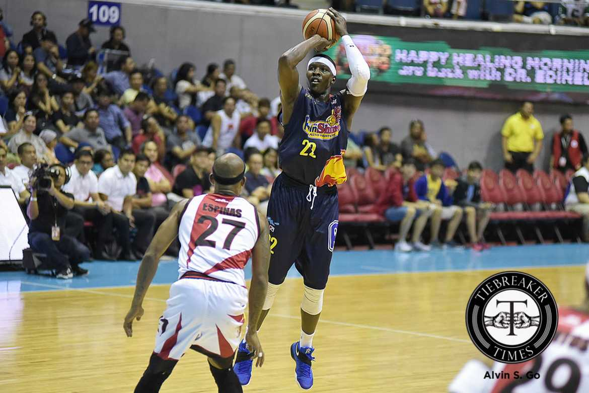 Tiebreaker Times With imports going in and out, Charlo hopes to have lengthy career Basketball News PBA  Rain or Shine Elasto Painters PBA Season 41 Maurice Charlo 2016 PBA Commissioners Cup