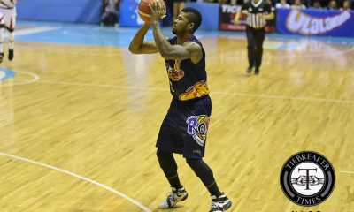 Tiebreaker Times Ahanmisi's absence in practice led to benching Basketball News PBA  Rain or Shine Elasto Painters PBA Season 42 Maverick Ahanmisi Caloy Garcia 2017 PBA Commissioners Cup