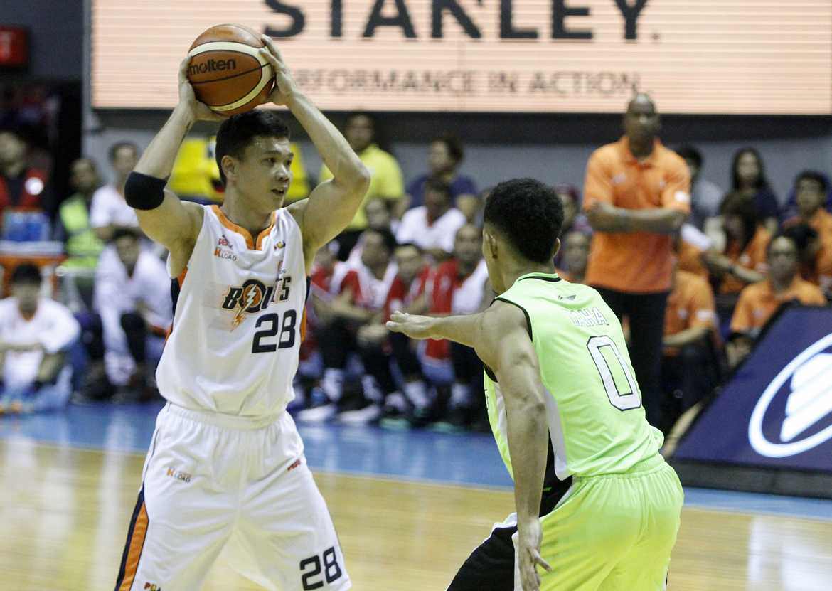 Tiebreaker Times Meralco suspends, fines David for 'lack of dedication to the team' Basketball News PBA  PBA Season 41 Meralco Bolts Gary David 2016 PBA Commissioners Cup
