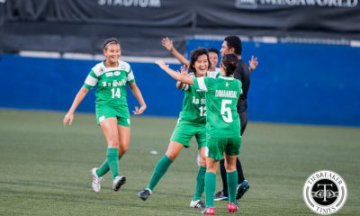 Tiebreaker Times La Salle wonder goals seal dramatic win over UP; sweep first round DLSU Football News UAAP UP  UP Women's Football Team UAAP Season 78 Women's Football Tournament UAAP Season 78 Shannon Arthur Sara Castaneda Regine Metillo Mary Rose Obra Mae Ardiente Louise Manalansan Kyla Inqui Inna Palacios Hans-Peter Smit DLSU Women's Football Team Chelo Hodges Arriane Javier