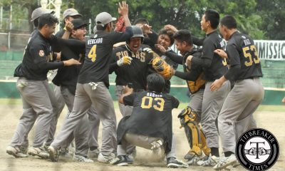 Tiebreaker Times Captain Aligno's HR powers Golden Sox past Bulldogs Baseball News NU UAAP UST  UST Golden Sox UAAP Season 78 Baseball UAAP Season 78 Saki Bacarisas NU Baseball Max Mercado Maiko Sugimoto Junmar Diarao Julius Mondragon Julius Diaz Jeffrey Santiago Jackson Acuna Cyruz Barit Christian Mercado Arcel Aligno
