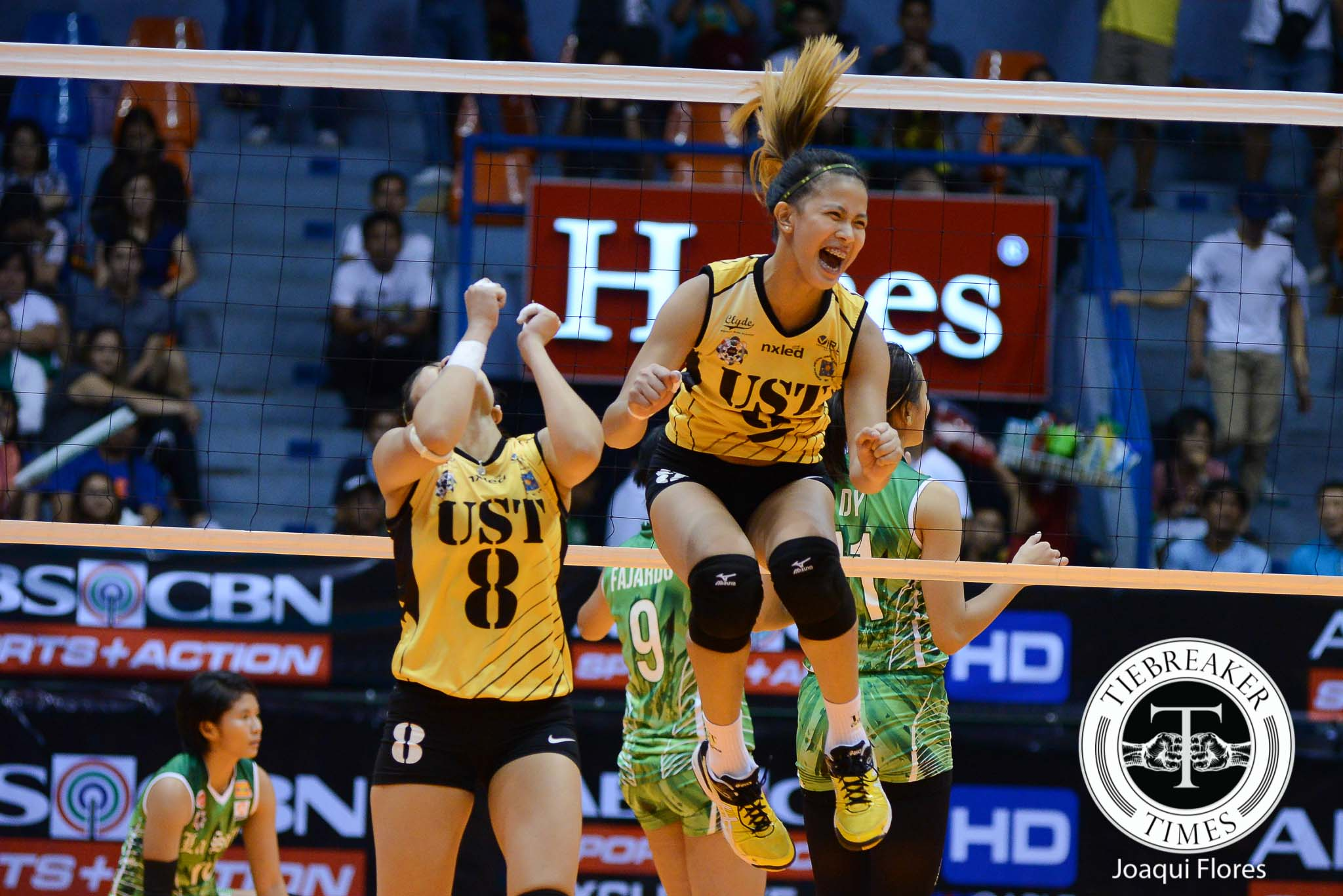Tiebreaker Times Laure getting right feel for leadership role News UAAP UST Volleyball  UST Women's Volleyball UAAP Season 78 Women's Volleyball UAAP Season 78 EJ Laure