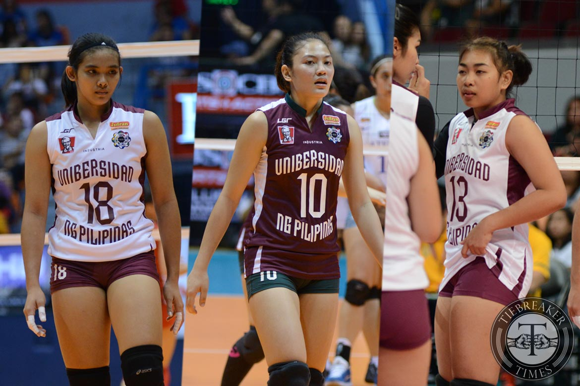 Tiebreaker Times Rookies of the year: How UP's recruiting coup compares to other classes News UAAP UP Volleyball  UP Women's Volleyball UAAP Season 78 Women's Volleyball UAAP Season 78 Justine Dorog Isa Molde Diana Carlos