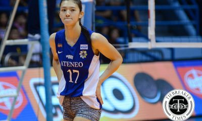 Tiebreaker Times Madayag out for season after ACL tear ADMU News UAAP Volleyball  UAAP Season 78 Women's Volleyball UAAP Season 78 Maddie Madayag Ateneo Women's Volleyball