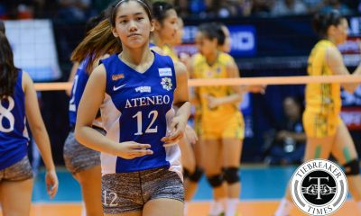 Tiebreaker Times Morado says hand injury nothing to worry about ADMU News UAAP Volleyball  UAAP Season 78 Women's Volleyball UAAP Season 78 Jia Morado Ateneo Women's Volleyball