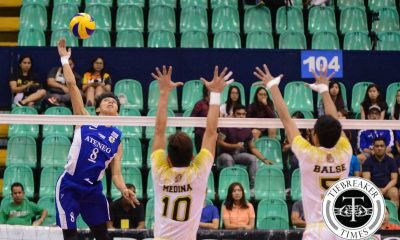 Tiebreaker Times Blue Eagles clinch Final Four berth, overpower Tiger Spikers ADMU News UAAP UST Volleyball  Ysay Marasigan UST Men's Volleyball UAAP Season 78 Men's Volleyball UAAP Season 78 Tyrone Carodan Rex Intal Oliver Almadro Odjie Mamon Mark Pangan Marck Espejo Manuel Sumanguid MAnuel Medina Ateneo Men's Volleyball Arnold Bautista