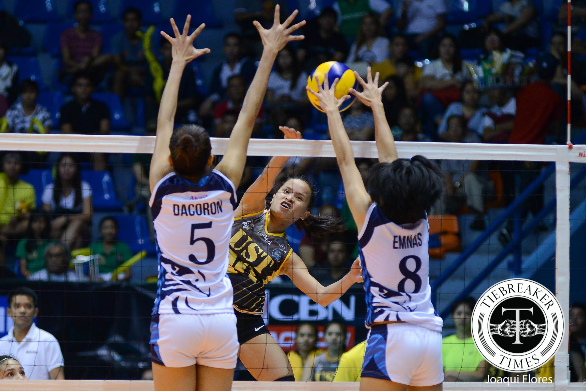 Tiebreaker Times UST avenges first round loss to Adamson AdU News UAAP UST Volleyball  UST Women's Volleyball UAAP Season 78 Women's Vollyeball UAAP Season 78 Rica Rivera Mylene Paat May Roque Kung Fu Reyes Jessey De Leon Jema Galanza Jellie Tempiatura EJ Laure Domeng custodio Cherry Rondina AdU Women's Volleyball