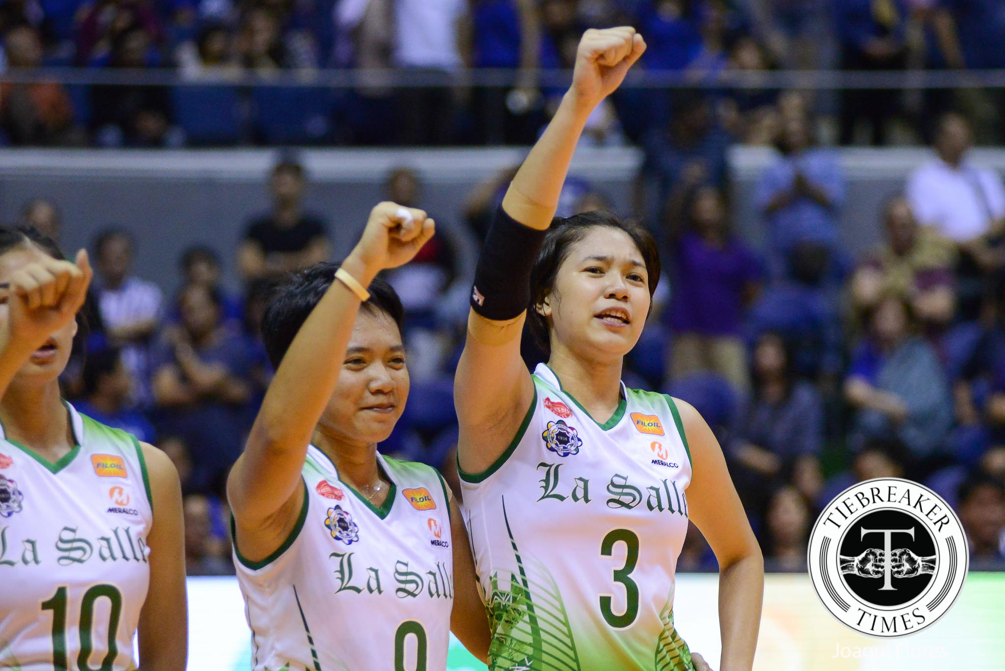 Tiebreaker Times Maraño thrilled with Fajardo, Reyes' growth DLSU News UAAP Volleyball  UAAP Season 78 Women's Volleyball UAAP Season 78 Mika Reyes Kim Fajardo DLSU Women's Volleyball Aby Marano