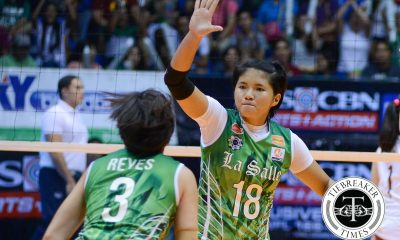 Tiebreaker Times Demecillo out two weeks due to knee sprain DLSU News UAAP Volleyball  UAAP Season 78 Women's Volleyball UAAP Seaosn 78 DLSU Women's Volleyball Cyd Demecillo