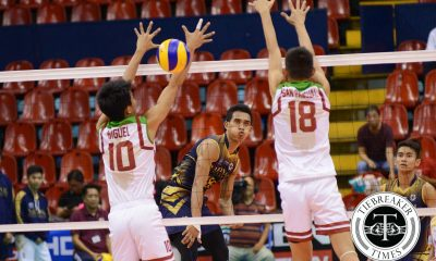 Tiebreaker Times Bulldogs dispose Maroons in crucial tiff, solidify third spot News NU UAAP UP Volleyball  Wendel Miguel UP Men's Volleyball UAAP Season 78 Men's Volleyball UAAP Season 78 Rodrigo Palmero Ricky Marcos NU Men's Volleyball Miguel Nasol Madz Gampong Kyle San Pascual Kim Malabunga James Natividad Dante Alinsunurin Alfred Valbuena