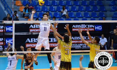 Tiebreaker Times Bulldogs shrug off vacation rust, UST for eighth win News NU UAAP UST Volleyball  UST Men's Volleyball UAAP Season 78 Men's Volleyball UAAP Season 78 Tyrone Carodan Odjie Mamon NU Men's Volleyball MAnuel Medina Madz Gampong Jason Sarabia James Natividad Francis Saura Dante Alinsunurin
