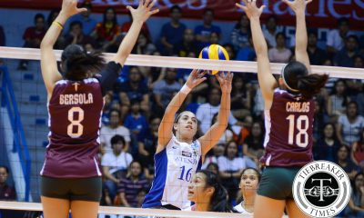 Tiebreaker Times Kiwi in the Middle: Ahomiro glad to be back at original position ADMU News UAAP Volleyball  UAAP Season 78 Women's Volleyball UAAP Season 78 Ateneo Women's Volleyball Amy Ahomiro