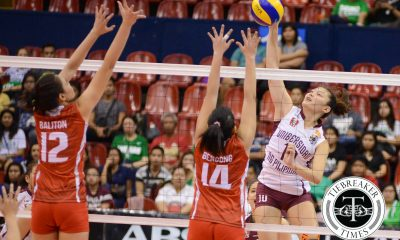 Tiebreaker Times Lady Maroons send Lady Warriors to 56th straight loss News UAAP UE UP Volleyball  UP Women's Volleyball UE Women's Volleyball UAAP Season 78 Women's Volleyball UAAP Season 78 Shaya Adorador Pia Gaiser Marian Buitre Judith Abil Jewel Lai Isa Molde Diana Carlos Anne Mendrez