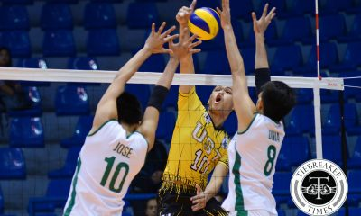Tiebreaker Times Tigers keep La Salle struggling, claim second win DLSU News UAAP UST Volleyball  UST Men's Volleyball UAAP Season 78 Men's Volleyball UAAP Season 78 Raymark Woo MAnuel Medina Jason Sarabia DLSU Men's Volleyball Cris Dumago Arnold Bautista Arjay Onia