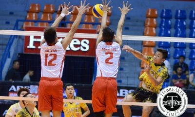 Tiebreaker Times Tigers wallop wasteful Warriors for third triumph News UAAP UE UST Volleyball  UST Men's Volleyball UE Men's Volleyball UAAP Season 78 Men's Volleyball UAAP Season 78 Ruvince Abrot Ruel Pascual Odjie Mamon Noel Alba MAnuel Medina Jomaru Amagan Jason Sarabia Edward Camposano